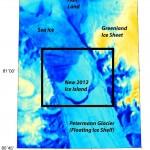 Un iceberg, del doble de la Isla de Manhattan, se despega de Groenlandia, 17 de julio de 2012