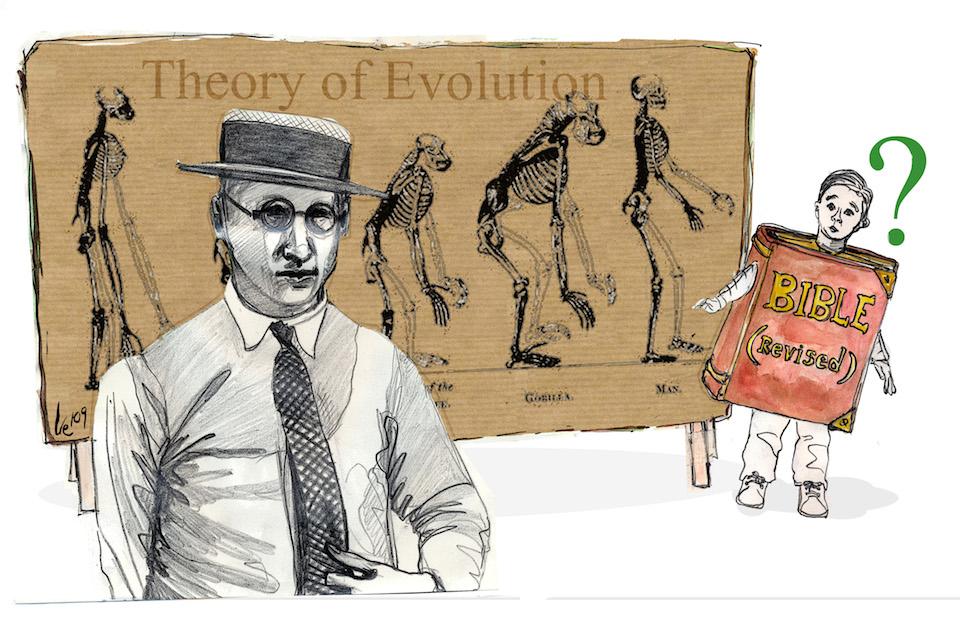El juicio del mono, 10 de julio de 1925- Irene cuesta, SINC