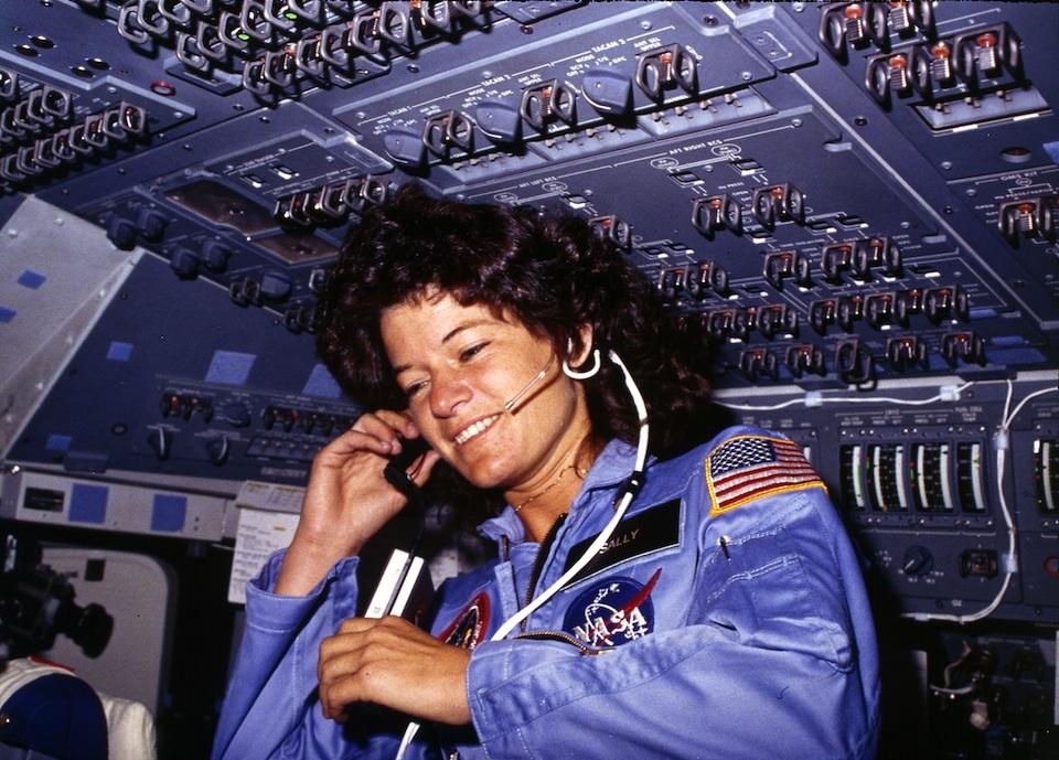 Sally Ride en el espacio