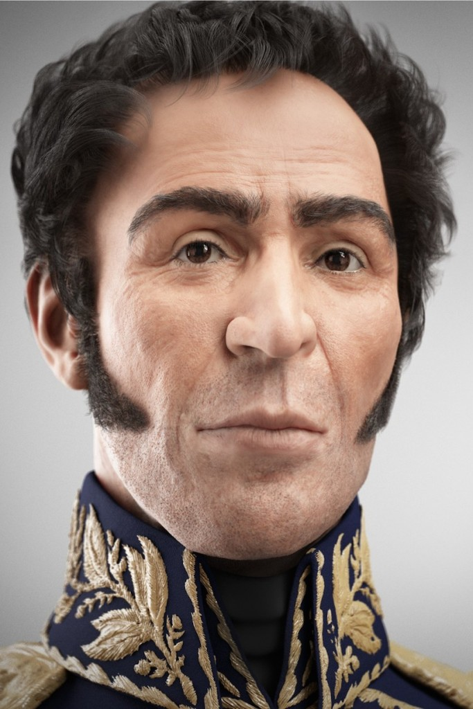 Simón Bolívar su rostro