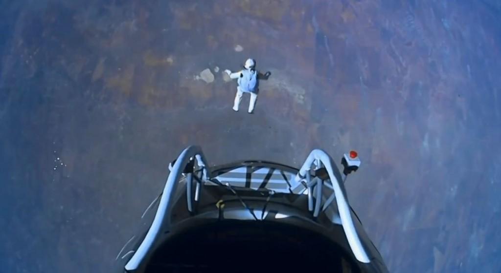 Felix Baumgartner en su salto