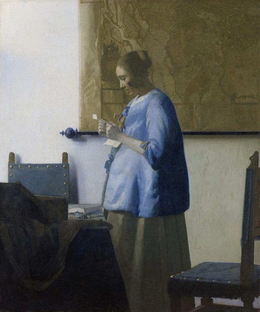 Mujer leyendo una carta, Johannes Vermeer, 1663-1664