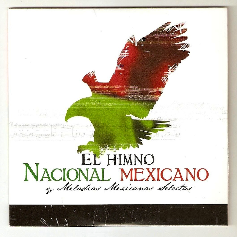 Portada del disco de Enrique Arturo Dimecke, Himno-Nacional Mexicano