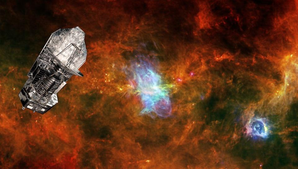 Observatorio espacial Herschel y la zona de formación de estrellas Vela_C