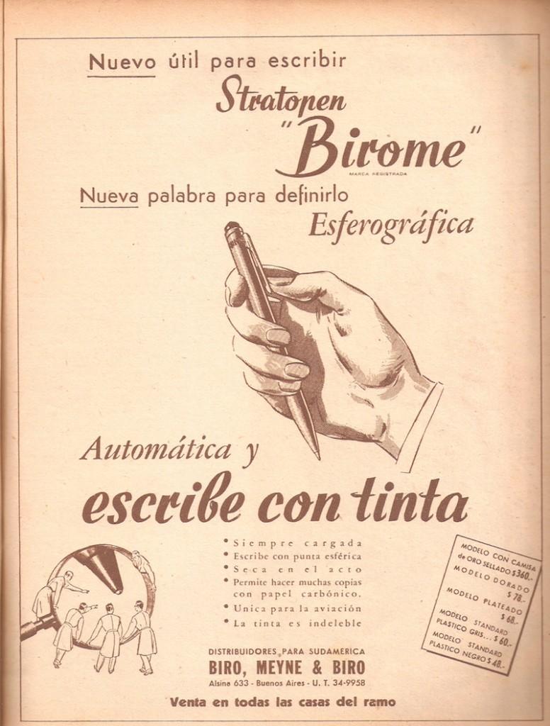 Los hermanos Biró patentan el bolígrafo, 10 de junio de 1943
