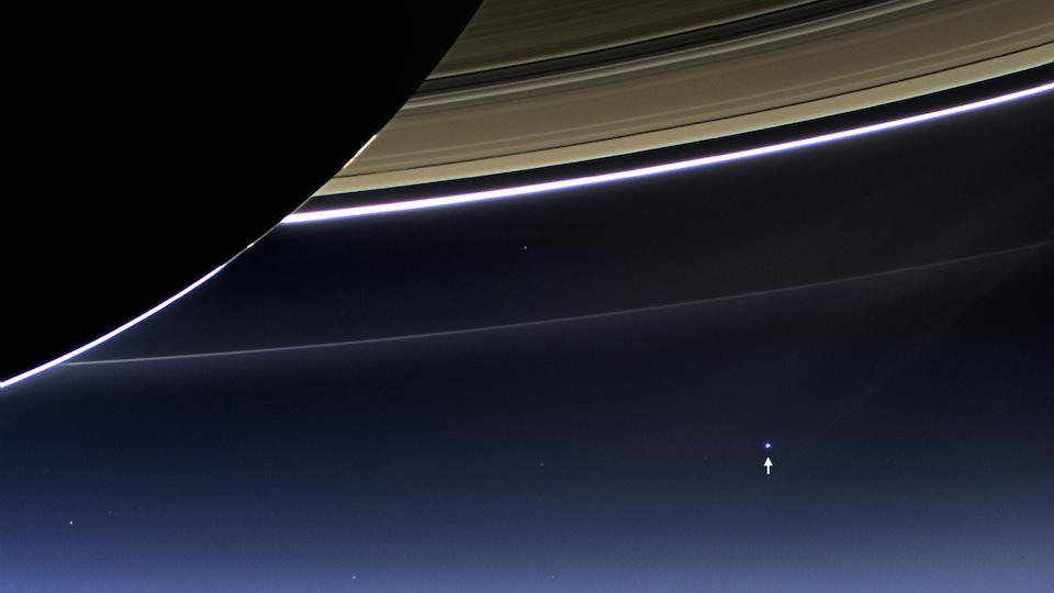 Imágenes de la Tierra tomadas desde una nave muy distante, Cassini: 19 de julio de 2013