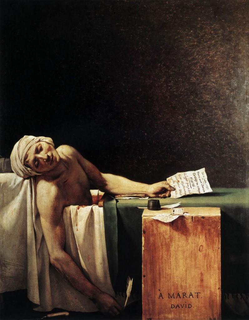La muerte de Marat, Jacques-Louis David, 1793