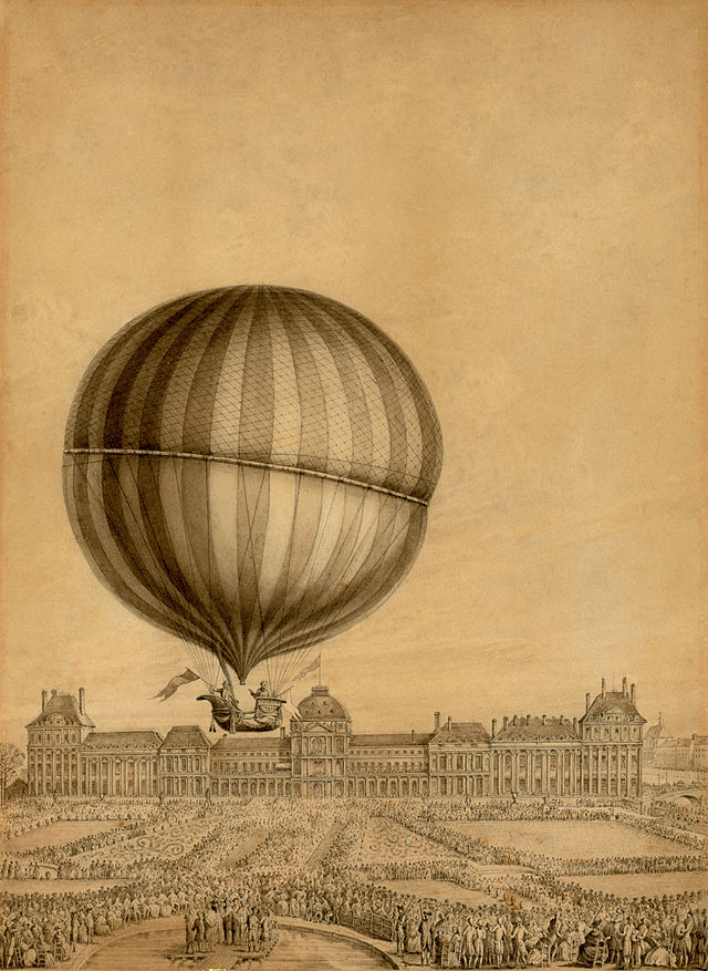 El globo aerostático de Jacques Alexandre Cesar Charles