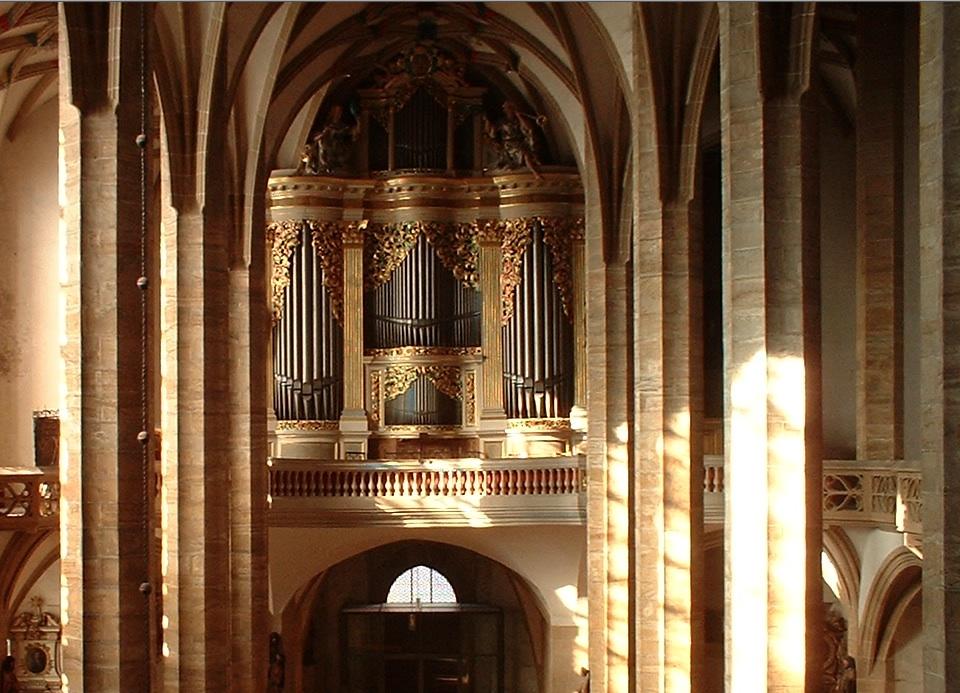 Gran Silbermann órgano en la Catedral de Freiberg