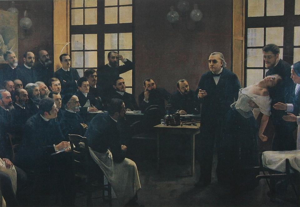Lección clínica en la Salpêtrière, de Jean-Martin Charcot- Pierre Andre Brouillet, 1887