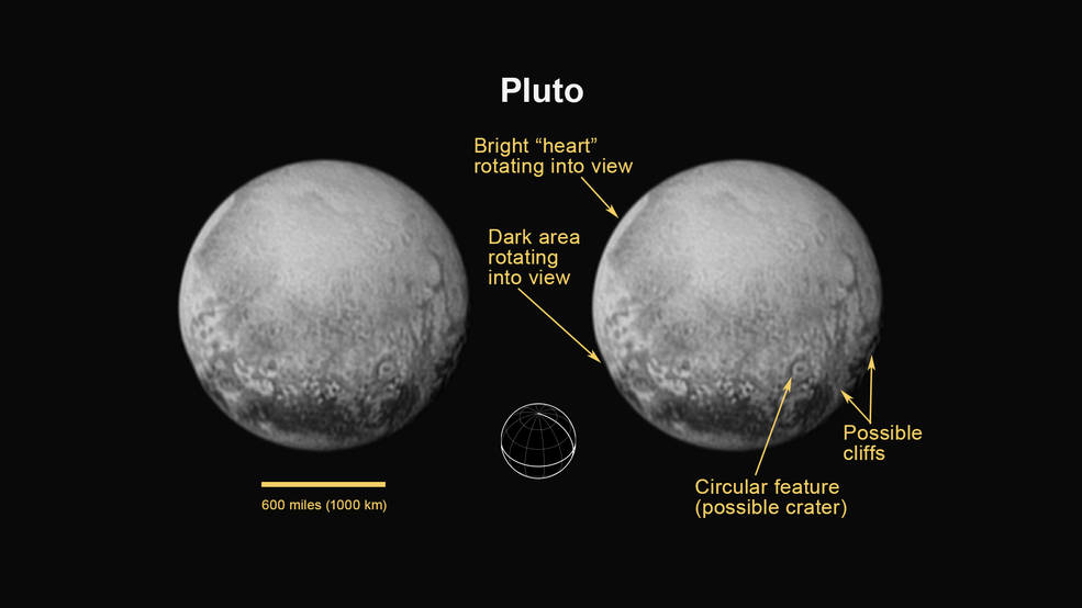 Plutón visto por New Horizons- NASA