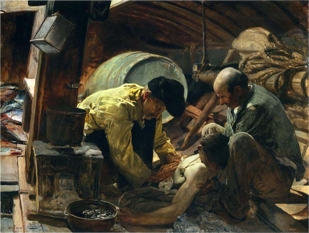 Y aún dicen que el pescado es caro, Joaquín Sorolla, 1894