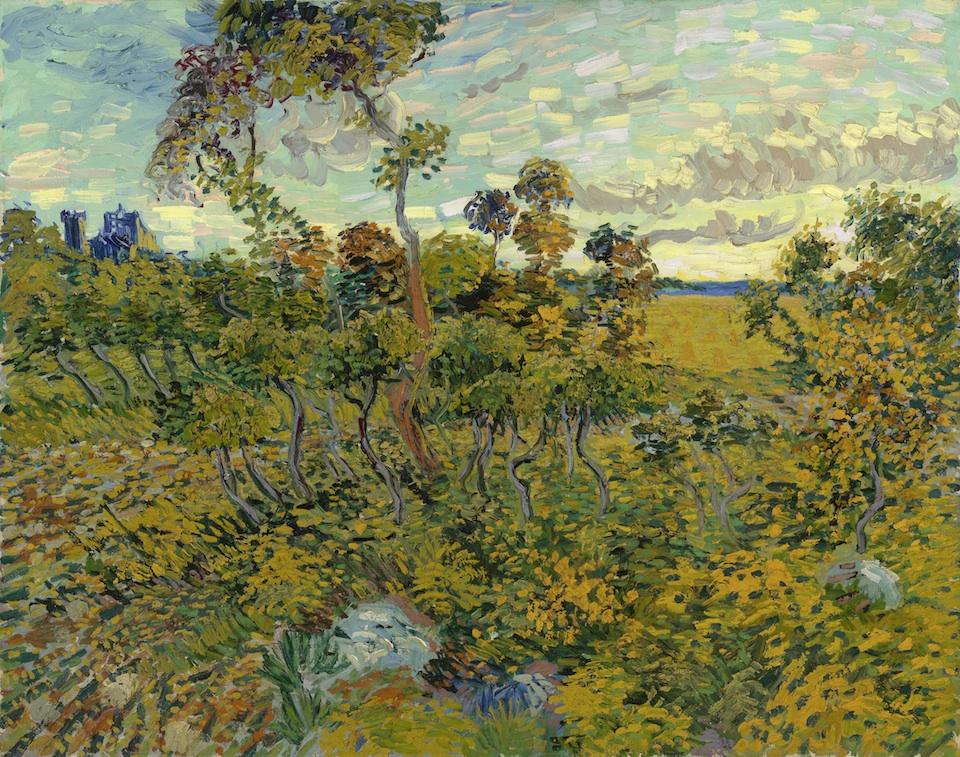 Atardecer en Montmajour, Vincent van Gogh, 1888