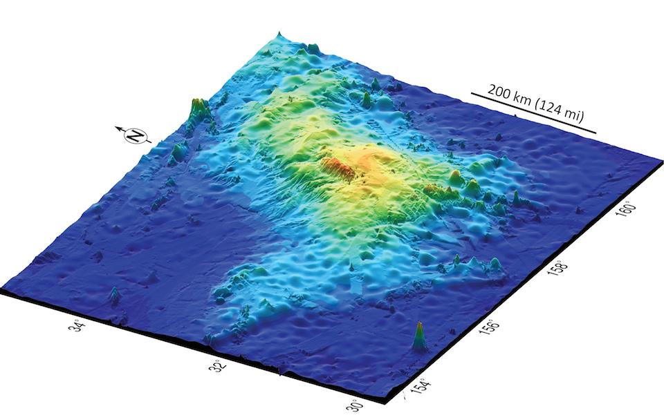 El volcán submarino Tamu Massif, Universidad de Houston