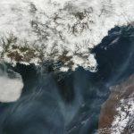 Nubes sobre el mar de Okhotsk, NASA Goddard_MODIS