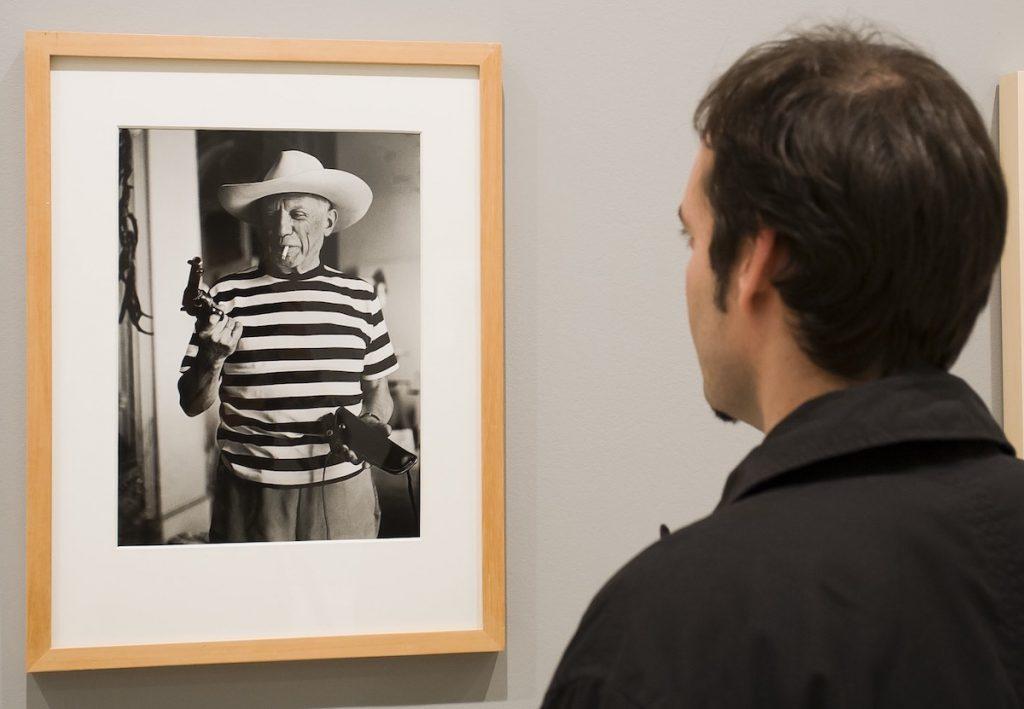 Pablo Picasso, fotografía en el Museo Picasso, de Málaga