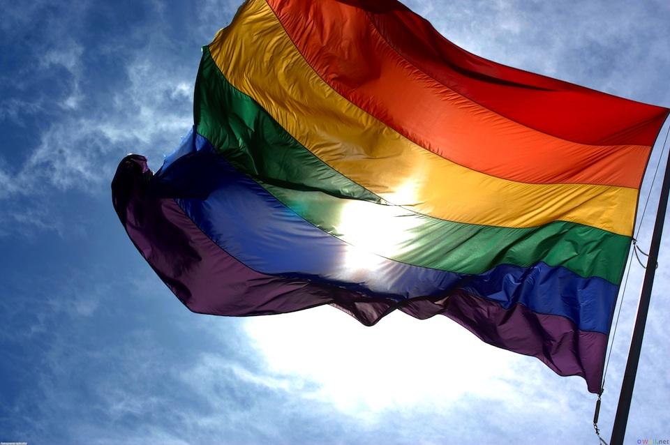 Bandera del arcoíris símbolo del movimiento gay desde 1978- Ludovic Bertron