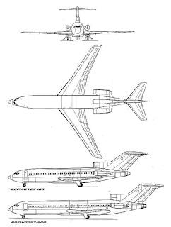 Boeing 727 3 vistas