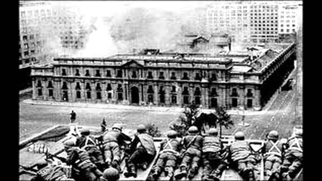 Bombardeo al Palacio de la Moneda, Chile, el 11 de septiembre de 1973