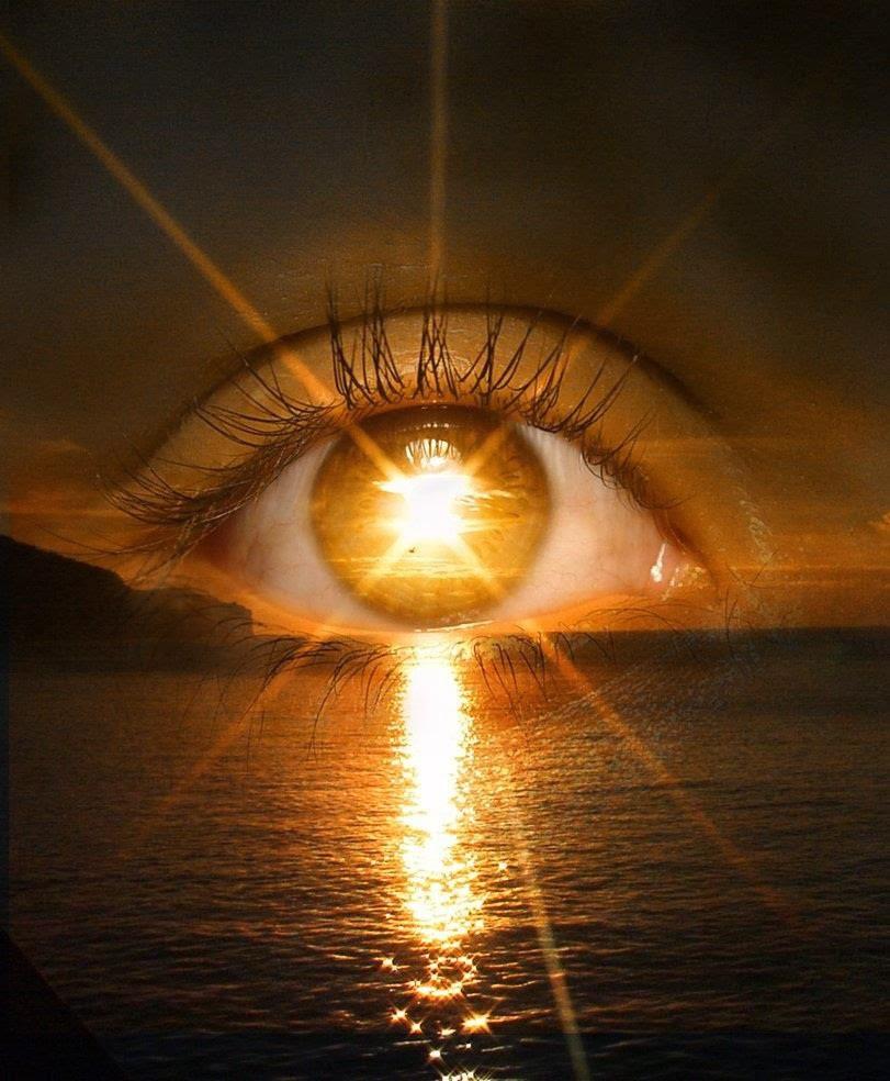 El sol en tu ojo, el brillo en el agua