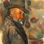 Paul Cézanne, autorretrato con sombrero arrugado, 1875