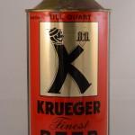 Primera Cerveza en lata Krueger Finest Beer