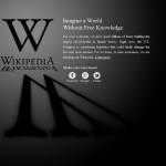 Wikipedia apagón contra la Ley SOPA, el 18 de enero de 2012