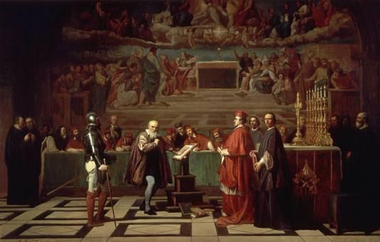 Galileo ante el Santo Oficio, Joseph NicolasRobert Fleury