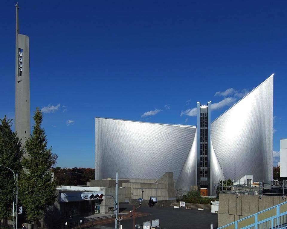 Catedral de Santa María, en Tokio, construida por Kenzo Tange