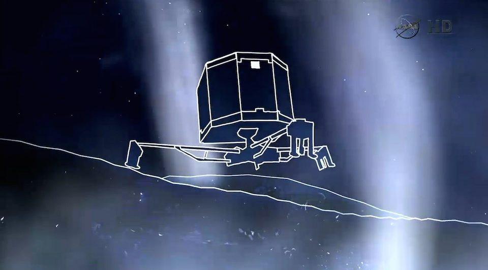 Fotograma Philae en el cometa 67 P/CG- NASATV