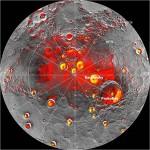 Mercurio se encogió hasta 7 kilómetros