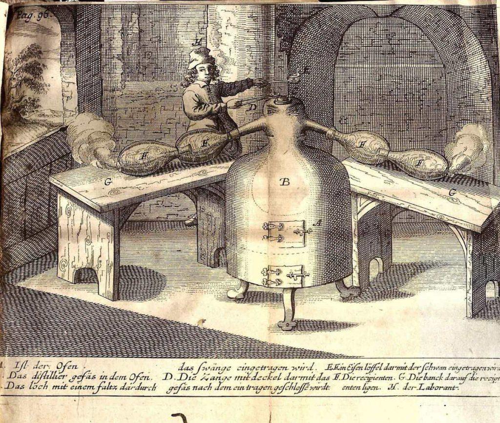"""Imagen del libro """"Descripción de un nuevo arte de destilar"""", de Johan Rudolph Glauber"""