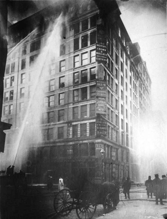 Incendio en la fábrica textil Triangle Shirwaist 25 de marzo de 1911