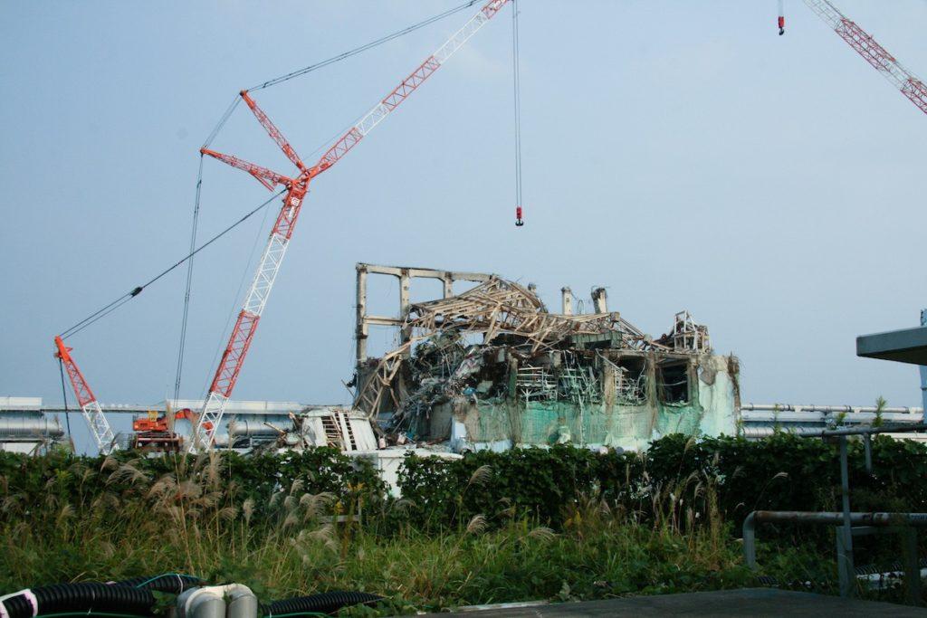 Central de Fukushima tras el tsunami de 2011