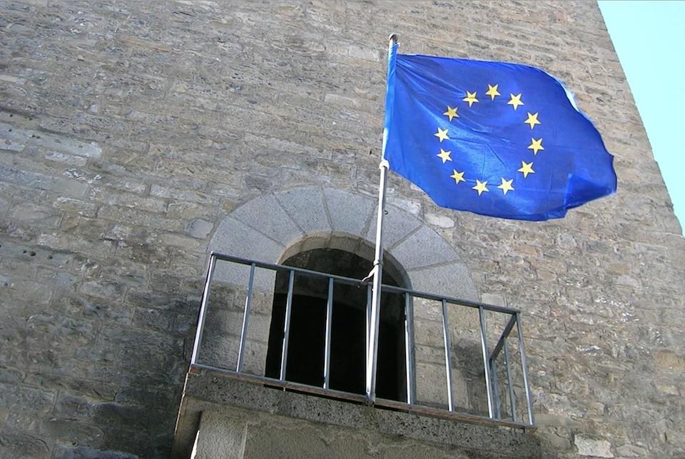 Bandera de la Unión Europea- poctefa-eu