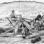 La cosechadora y engavilladora de McCormick