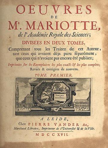 Obras de Edmé Mariotte