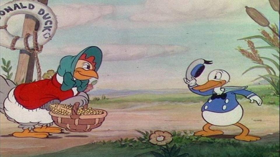 El Pato Donald en la Gallinita Sabia