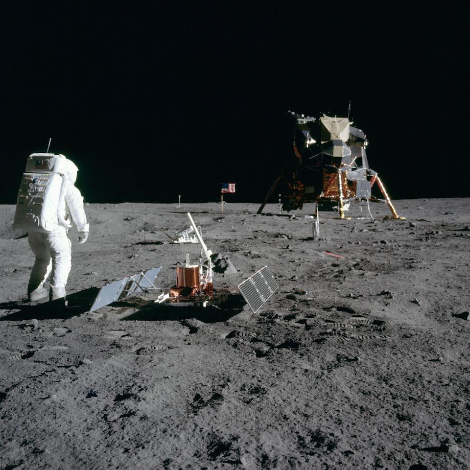 Buzz Aldrin en la Luna, donde llegó a bordo del Apolo 11- NASA