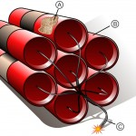 Alfred Nobel patentó la nitroglicerina como explosivo y la dinamita el mismo día, el 14 de julio, de 1864 una y de 1867, la otra