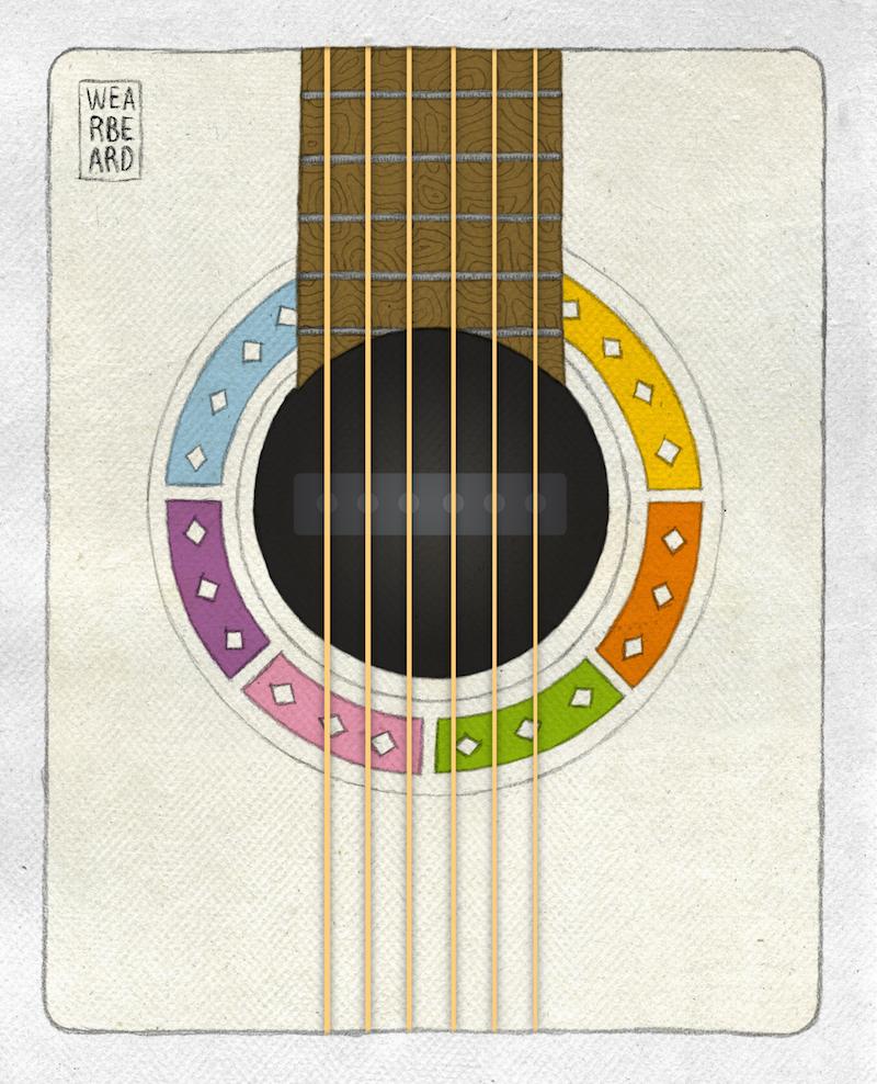 Patente de pastilla para volver eléctrica la guitarra, otorgada el 13 de julio de 1937