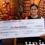 UV entregó donativo de 375 mil pesos a la Cruz Roja Mexicana