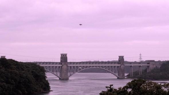Puente Britannia, estrecho de Menai, Inglaterra, contruido por William Fairbairn