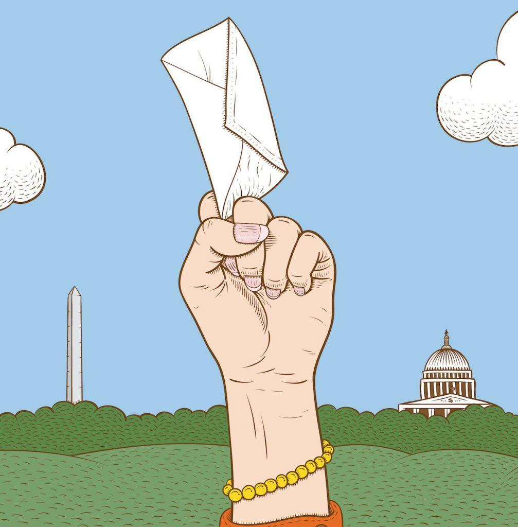 El derecho feménino al voto en EE.UU.