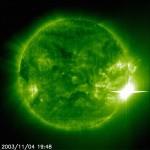 La actividad solar más prolongada de que se tiene registro fue en 2003: La Tormenta Solar de Halloween