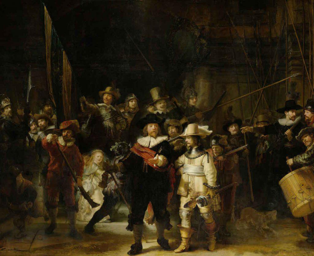 La ronda de noche, Rembrandt, 1642- Rijksmuseum, Ámsterdam
