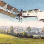 Alberto Santos Dumont volando el 14-bis