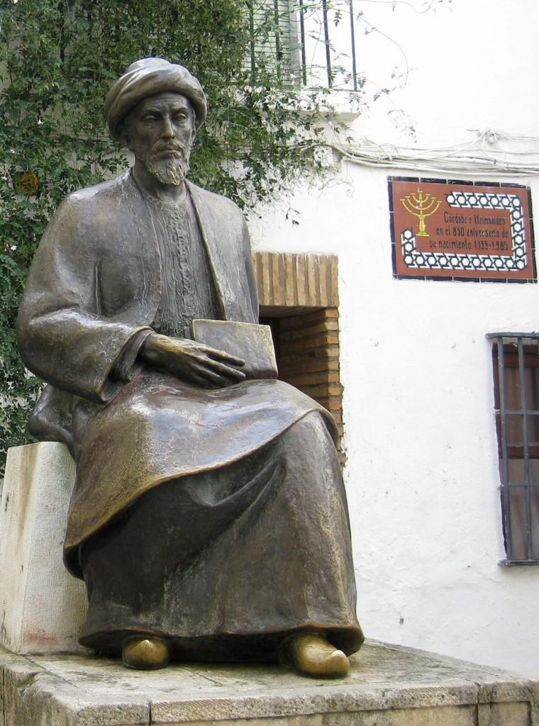Estatua de Maimónides en Córdoba, España