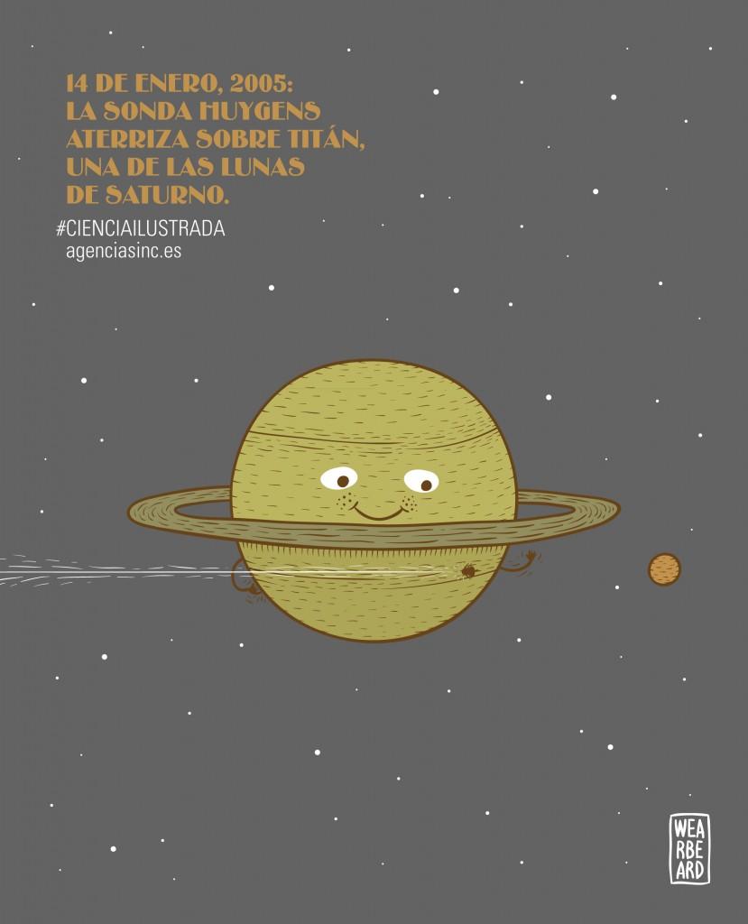 Huygens llega a Titán, satélite de Saturno- Wearbeard