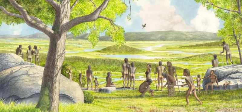 Las primeras poblaciones europeas eran reducidas pero no infrecuentes